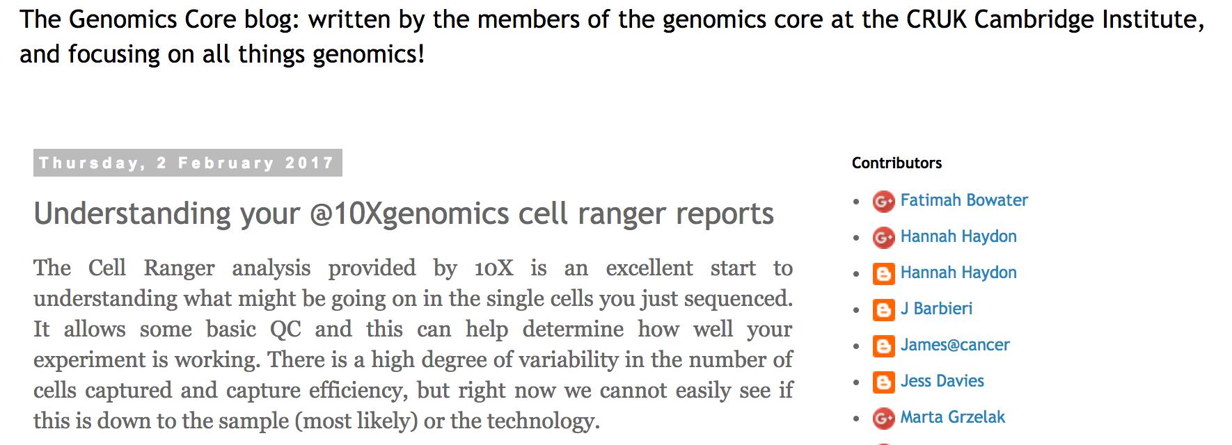 Understanding a 10XGenomics Cell ranger QC report