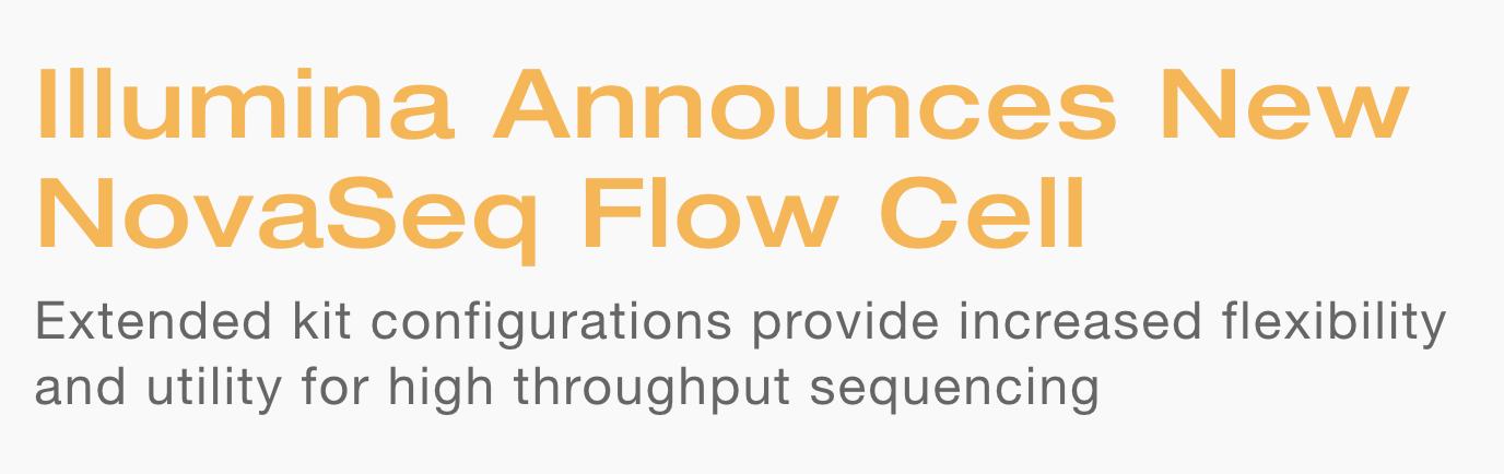 @Illumina #NovaSeq new mini flowcell